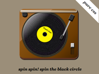 Spin the black circle [CSS]