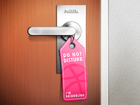 Do not disturb [I'm dribbbling]