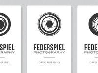 Federspiel Photography Logo and Business Card Concepts
