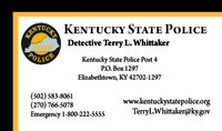 Whittaker Business Card
