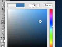 Photoshop color picker concept