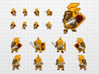 Gladiator Sprites for iPhone Game