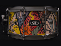 Hand-painted Snare Drum