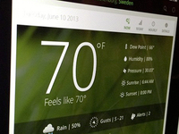 Weather flat ui concepts for iPad