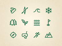 Outdoor icons set