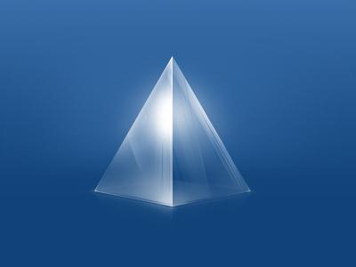玻璃金字塔说明创建一个网站.    0 responses