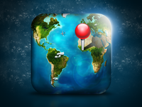 World/Map iOS Icon