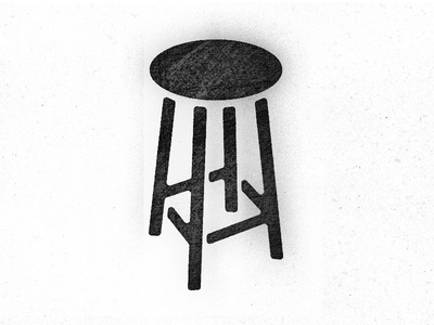 Stool for a Art's Cafe