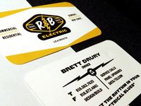 R&B Electric logo & business card