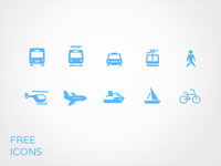 Transportation Icon set for free