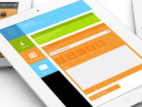 iPad app layout design