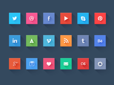 Download Social icons Freebie