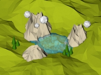 Low Poly Isometric Lake