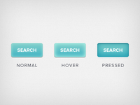 Button States: Normal, Hover, Active (Pressed)