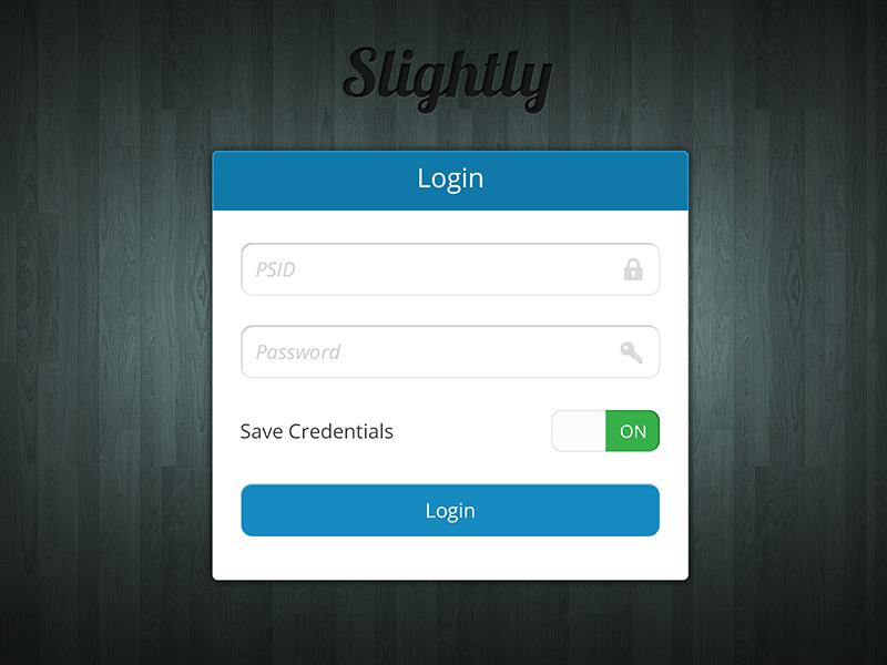 Dribbble - Slighly App Login by Abdullah Bin Laique