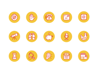 Kick Point Icon Set
