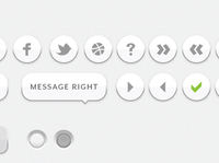 simple white UI elements