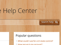 wood made help center