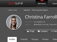 The Social Network for Athletes profile