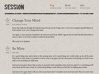 Session Blog Theme