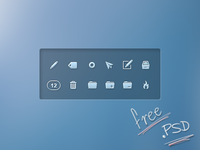 Icons for private mail client (PSD)