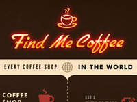 Find Me Coffee Website - Homepage Comp