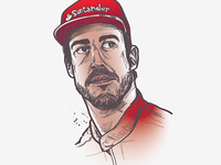 Fernando Alonso colour work