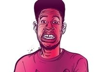 Tyler the Creator illustration for magazine brief