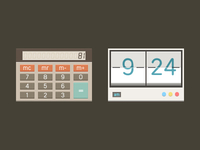Calculator + Clock