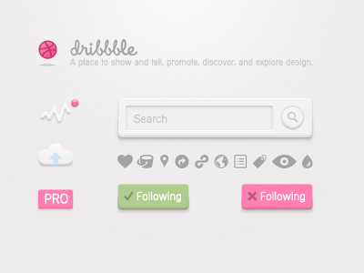 Dribbble_ui_kit