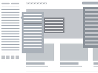 Wireframe for content heavy website