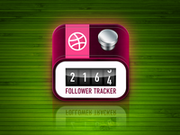 Icon for DribTrack (on AppStore) - Follower Tracker For Dribbble