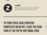 Gmail Keyboard Shortcuts Infographic