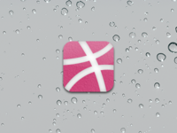 Dribbble iOS White on Pink