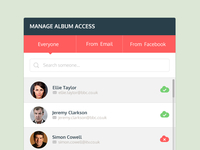 Access manager widget