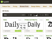 Typekit Grid View
