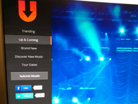 Music site re-design navigation concept