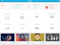 Vimeo iPad App Design (Concept Work) Logged page