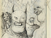 DC Super Laughter sketchbook