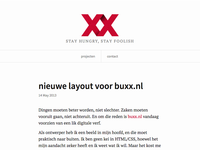 new layout for buxx.nl
