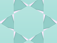 Seafoam Hexagons