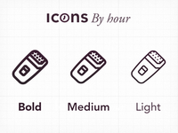 Icons By Hour - Weight adjustment