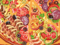 Vector pattern pizza