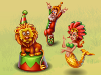 "Objects for flash game ""Fishdom"". Location ""Carnival"""