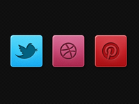 Beautiful Fresh Subtle Social Icons