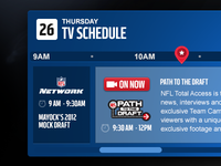Concept for TV Schedule for NFLN