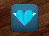Kicksend icon for iOS