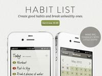Habit LIst website launch