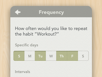 Habit List Frequency