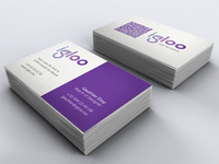 Igloo Web Studio Business cards